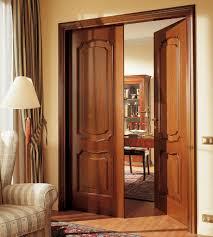 dashing open pull model inside wooden doors design between work