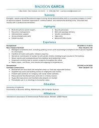 Medical Front Desk Resume Sample Front Desk Receptionist Sample Resume Hotel Front Desk Resume