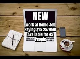Design Works At Home New Work At Home Job Paying 15 25 Hour Available For 45 People
