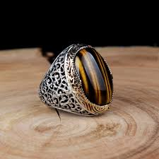 men rings classic tiger s eye men ring boutique ottoman jewelry store