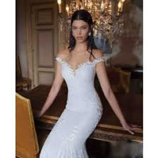 mermaid wedding dress the shoulder v neck lace backless trumpet mermaid wedding