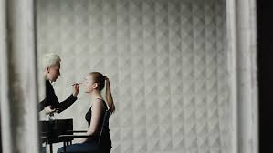 professional makeup lighting professional make up artist stylist at work in beauty fashion