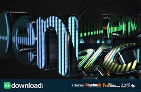 3d led logo equalizer videohive project free download free