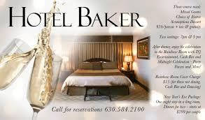 new years party package hotel baker new year s at hotel baker
