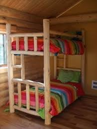 Log Bunk Bed Plans Log Bunk Beds Pinteres
