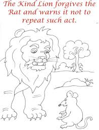 the lion warns rat coloring page for kids