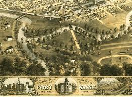 Birds Eye View Maps Fort Wayne Indiana In 1868 Bird U0027s Eye View Map Aerial Map