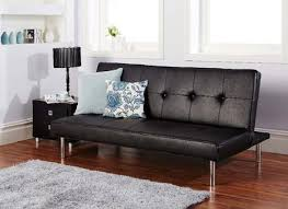 Clik Clak Sofa Bed by Barker Grey Faux Leather Click Clack Sofa Bed Furniture123 Alley
