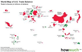 Usa World Map by Visualising U S Exports U0026 Imports
