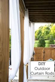 Where To Hang Curtain Rods Hanging Outdoor Curtains The Polkadot Chair