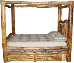 Pictures Of Log Beds by Log Bed With Built In Draws Western Rustic Furniture Pinterest