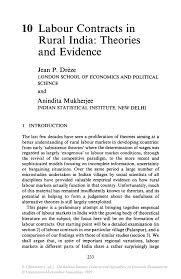 Sample Cover Letter For Substitute Teacher Labour Contracts In Rural India Theories And Evidence Springer