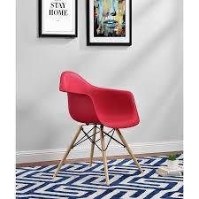 Century Chair Dhp Mid Century Modern Molded Arm Chair With Wood Leg Walmart Com
