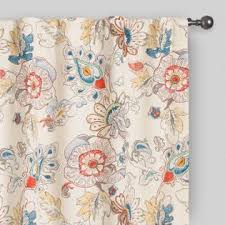 drapery floral curtains world market