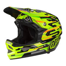 troy lee motocross helmets troy lee designs downhill mtb helmet d3 carbon code yellow 2017