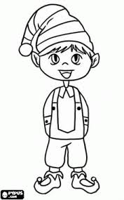 elf coloring page christmas pinterest coloring