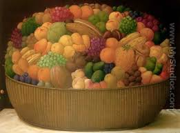 basket of fruits basket of fruits canasta de frutas by fernando botero mystudios
