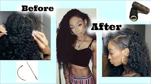 sewing marley hair how to sew in curly hair fake shaved side style ft wowafrican