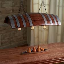 one third wine barrel hanging light barrels wine and whiskey