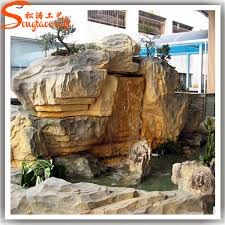 2015 nearly natural high quality artificial plastic waterfall