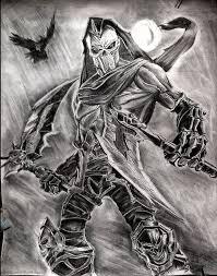 drawn grim reaper wing sketch pencil color drawn grim