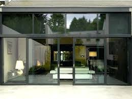 Wood Patio Doors With Built In Blinds by Andersen Sliding Glass Patio Doors Home Depot Brown Stained Wooden
