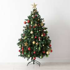 Homebase Blue Christmas Decorations by 6ft Green Teardrop Artificial Christmas Tree At Homebase Co Uk