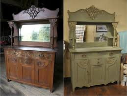 painted antique buffet with mirror yahoo search results