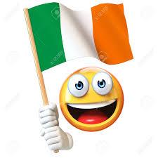 Flag Of Ireland Emoji Holding Irish Flag Emoticon Waving National Flag Of Ireland