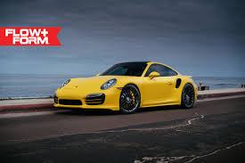 custom porsche 911 turbo yellow 911 turbo s puts on stealthy looking custom rims