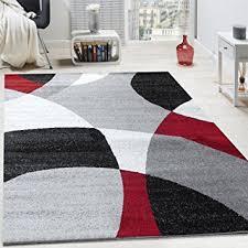 tappeto moderno rosso tappeto di design pelo corto tappeto moderno motivo astratto