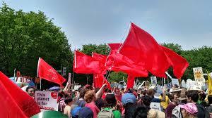 Washington Dc Flag You Can U0027t Keep The Red Flag Down U2013 Socialist Feminist Poet U2013 Medium