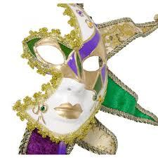venetian jester mask venetian jester half mask on a stick 36003