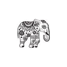 mandala elephant black