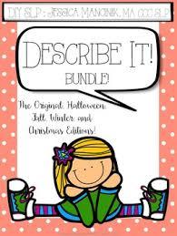 describe it describe it bundle worksheets language and activities