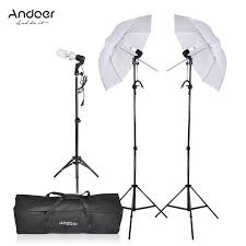cheap umbrella lighting kit photography video portrait umbrella continuous triple lighting kit