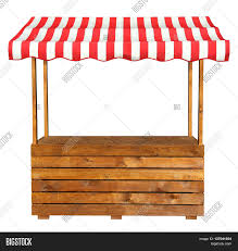 Red And White Striped Awning Wooden Market Stand Stall Red White Image U0026 Photo Bigstock