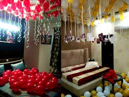 balloon surprise decoration at home for anniversary birthday in