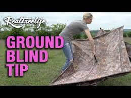 Pop Up Ground Blind How To Pop Up A Ground Blind Youtube