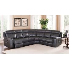 leather reclining sectional sofas you u0027ll love wayfair