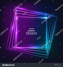 framework design shining neon banner multicolored bright framework stock vector