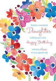 happy birthday card ring of flowers design size 9 00 x 4 75