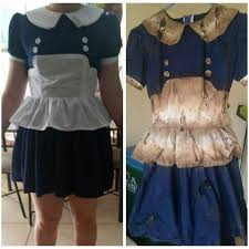 halloween costume white button up shirt bioshock little sister dress painting tutorial cosplay amino