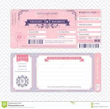 Wedding Template Invitation Boarding Pass Wedding Invitation Template Royalty Free Stock