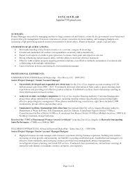 It Manager Resume Example by It Program Manager Resume Sample Emphasizing Area Of Expertise And