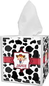 cowprint cowgirl bathroom accessories set personalized potty