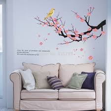 plum trees branch wall stickers living room flowers posters dining plum trees branch wall stickers living room flowers posters dining room tv background stickers bedroom accessorries home decor in wall stickers from home