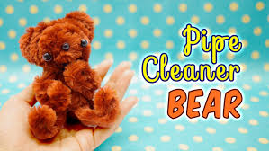 diy pipe cleaner bear craft kit from daiso tutorial youtube