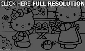 amazing of great hello kitty coloring pages for kids free 154