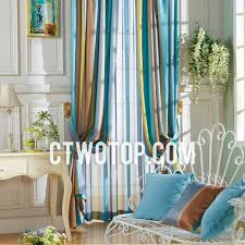 Yellow And Blue Curtains Shabby Chic Beautiful Blue Yellow And Chocolate Striped Curtains